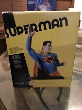 "DC Direct Superman Statue Classic Mini Bust 6-5/8"" Golden Age Tim Bruckner 2002"