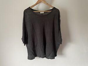 American Vintage Linen Tee Tshirt XS Grey - Please Read Description