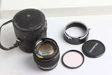 OLYMPUS OM-SYSTEM G. ZUIKO AUTO-S 55mm f1.2 lens + hood filter case excellent