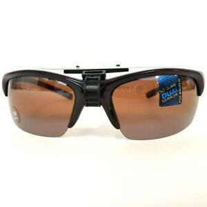 Solar Comfort Polarized Sunglasses Tortoise Semi-Rimless w/Amber Ultra Light NEW