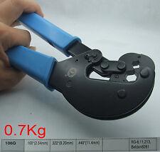 2.54 8.20 11.4mm hex Crimper crimping Pliers for RG6 RG11 RG213 BNC SMA SMB TNC