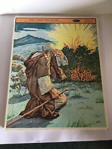 4520 Whitman Bible Frame Tray Puzzle Moses Burning Bush 1968 Lajos Segner