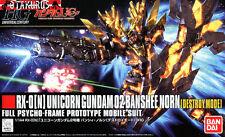 RX-0[N] Unicorn Gundam 02 Banshee Norn Destroy Mode HG Scale 1/144 Model Bandai