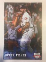 DEREK FISHER Signed Autographed Baseball Postcard Houston Astros FanFest
