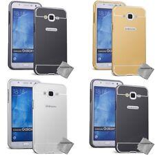 Housse etui coque bumper miroir metal Samsung Galaxy J1 (2016) + verre trempe
