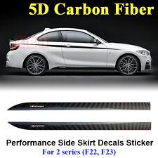 M Performance Side Skirt Stripe 5D Carbon Fiber Sticker for BMW 2 Series F22 F23