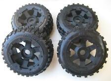 1/5 Baja Wheels & Tyres Set BT Knobby Front REARS Bow Tie HPI 5b PRC Rovan Km