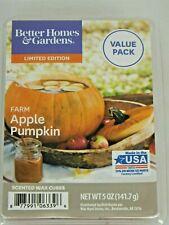 Better Homes& Garden Farm Apple Pumpkin Scented Wax Warmer Cubes Limited Edition