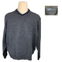 Polo Ralph Lauren Wool Sweater XL Mens Polo Knit Sweater Waffle V Neck Sweater