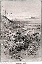 Procida e Ischia da Monte di Procida. Campi Flegrei. Napoli. Stampa Antica. 1880