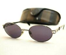 FENDI SL 7079 sunglasses vintage silver black oval unisex medium