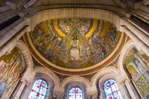Interior of Basilica of the Sacred Heart of Paris Photo Art Print Poster 18x12 i