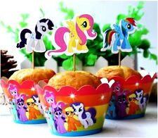 MY LITTLE PONY cupcake wrappers and toppers - Pack of 12  **AU SELLER!