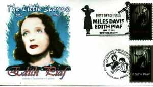 Graebner Chapter AFDCS 4692 Edith Piaf Slogan Cancel Joint Issue France Stamp