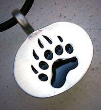 Bear Paw print Symbol Tattoo totem animal spirit Native tribe gay pewter pendant