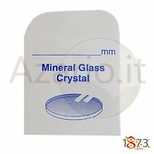 Vetro minerale orologi piano spessore 1.00 mm Flat glass watch part ricambi tool