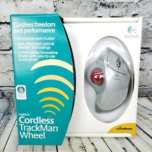 Logitech Cordless TrackMan Ergonomic Wheel Mouse for Window Desktop Computer