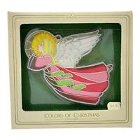 1981 Hallmark Keepsake Ornament Colors of Christmas Stained Glass Angel Vintage