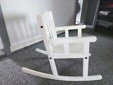 Ikea Kinderschaukelstuhl Holz weiss bis 6 Jahre
