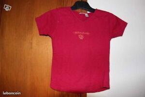 T-shirt fille manches courtes en TBE - 10 ans