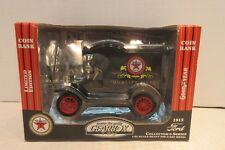 Gearbox Toy 1912 Ford Model T Texaco Delivery Car Die Cast Coin Bank 1:24 Scale