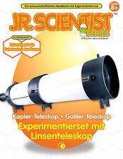 DIY Teleskop  Bausatz Galilei Kepler Experimentierkasten mit tollem Lehrbuch