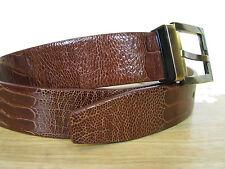 "$895 NWT Dolce & Gabbana Genuine Ostrich Leather Belt 100 cm / 39.5"" - Italy"