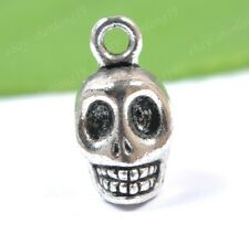 free ship 10pcs tibetan silver skull charm pendant 18X10MM SH2122