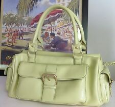 Helene Welsh Leather Bag Currency  Designer Fashion Lime Women Chic Summer Chic