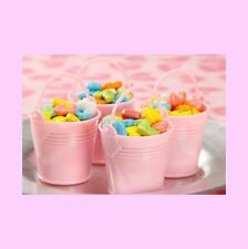 Pink Bucket Favor Pails - For Baby Shower or Birthday Favors - Set of 12    FAVP