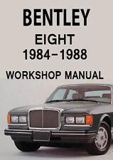 BENTLEY EIGHT WORKSHOP MANUAL: 1984-1988