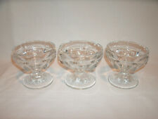 Clear Glass Drinking Goblet Glasses or Cups ~ Set of 3
