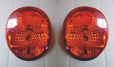 VW SUPERBEETLE TAIL LIGHTS 1973-79 CLEAR RED NEW  PAIR  AFTERMARKET