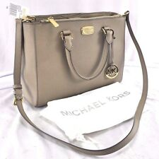 Michael Kors Kellen Medium Leather Tote 35S6GSOT2L, Taupe