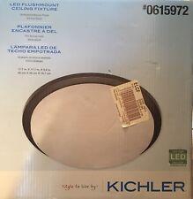 *NEW* 17 In. LED FLUSHMOUNT CEILING LIGHT Oil-Rubbed Bronze By KICHLER #0615972