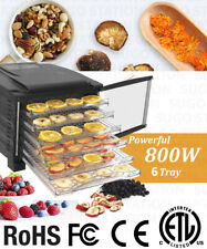 Premium KMK 6 Tray Food Dehydrator 800W Timer Dryer Preserve Jerky Fruit Meat