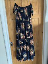 Qed Floral Maxi Dress, Shirred Waist Bnwts Size 14 Very Flattering
