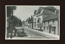 Herefordshire HAY-ON-WYE Broad St JUDGES PROOF photo plain back c1950/60s?