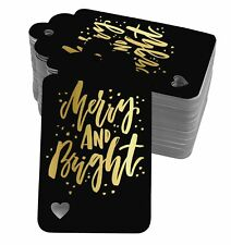 Real Foil Bottle Tag Merry And Bright Christmas Craft Tags-SH5_14BG