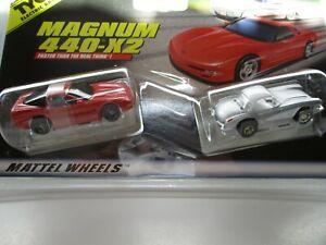 Hot Wheels Turbo TwinPack 1997 Red Corvette 7 Grey 1960 Corvette