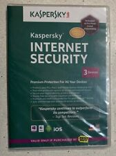 Kaspersky Internet Security for PCs, Macs for 3 devices **BRAND NEW**
