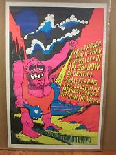 vintage Black light Meanest son of a b*tch in the valley poster 1971  11038