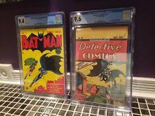 Batman #1 Masterpiece Edition Cgc 9.4,& Detective Comics #27 Oreo Reprint Cgc...