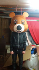 Teddy Bear Head Mascot Costume Parade Suit Cosplay Party Fancy Dress Unisex 2018