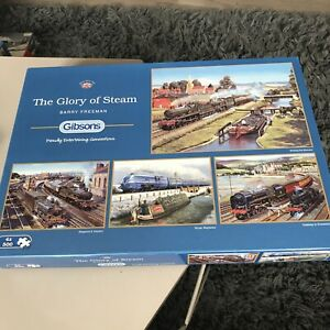 GIBSONS 'The Glory Of Steam' - X4 500 Piece Jigsaw Puzzles
