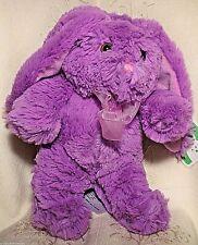 """Meadow Friends Easter Bunny Rabbit Plush Toy Soft Floppy Ear Purple Boy Girl 10"""""""