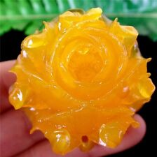 1Pcs Delicate Nice Yellow Tridacna Flower Carved Pendant Bead 45*43*23mm AE1227