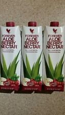Forever Living Aloe Berry Nectar, 3 x 1000ml Brand *New* Sealed 3 Box