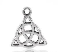 50 älter Silber Keltische Knoten Charms Anhänger 15x17mm