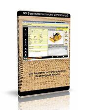 GS Baumaschinenmodell-Verwaltung - Software zur Verwaltung Ihrer Sammlung